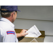 Picture of a mailman